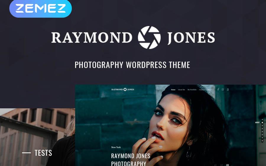 Raymond Jones - Photographer Portfolio Landing Page WordPress Theme