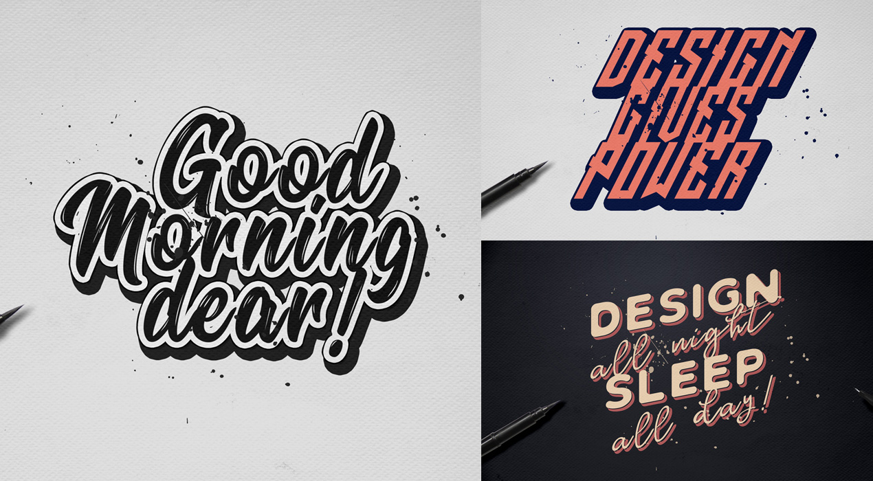Handwritten Calligraphy Text Effects