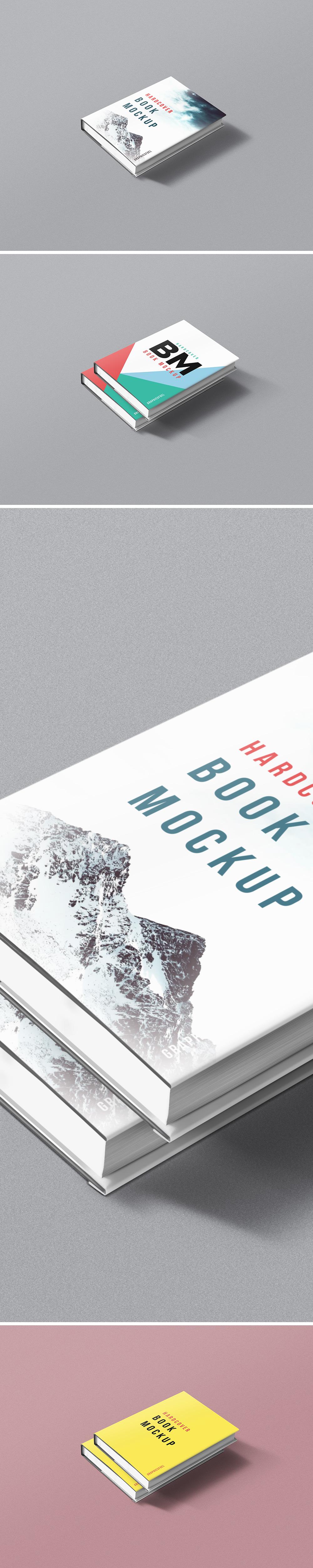 Hardcover Book Mockup PSD