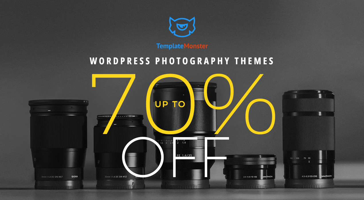 TemplateMonster Cuts the Price of WordPress Photography Themes up to 70% OFF