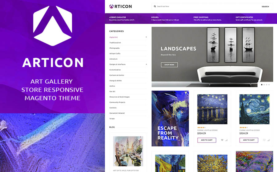 Articon - Art Gallery Store Magento Theme