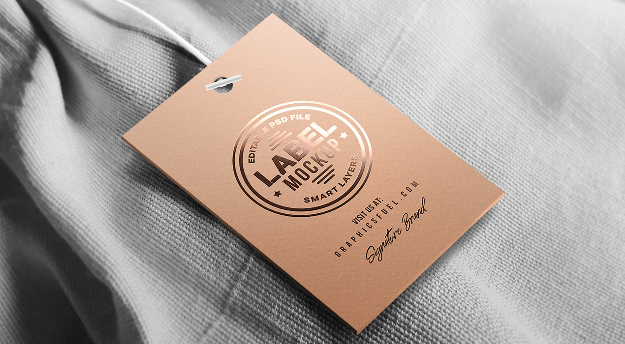 Clothing Tag Label Mockup