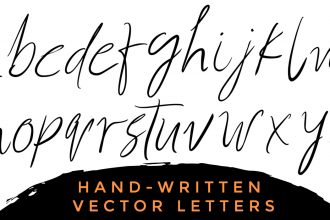 Handwritten Vector Alphabets & Extras