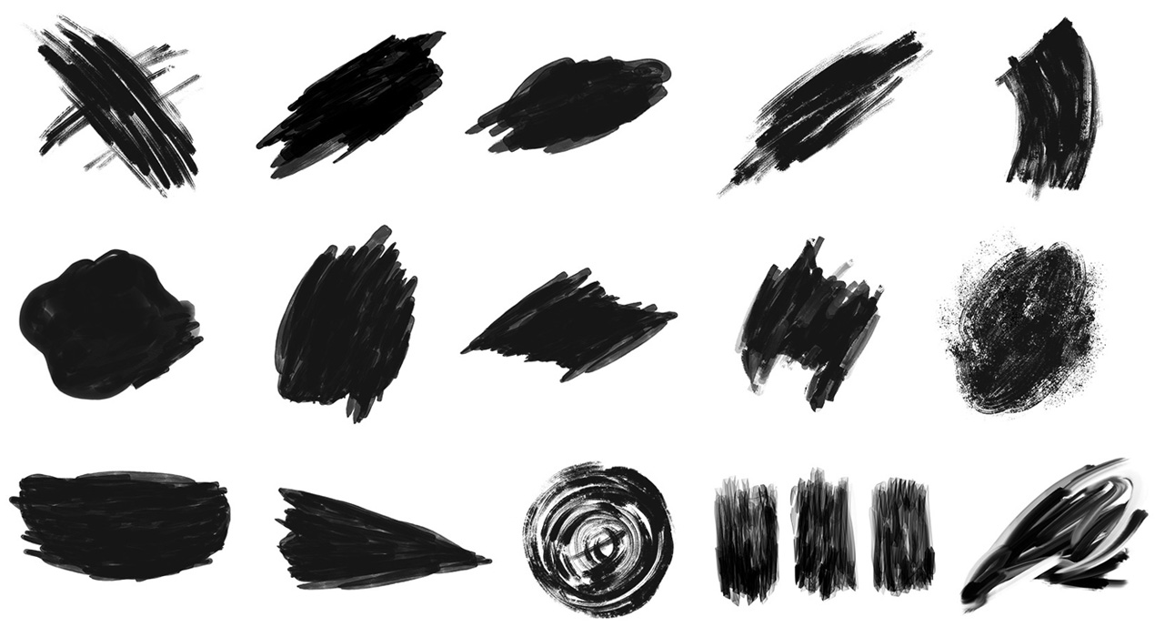Hand Drawn Abstract Paint Shapes