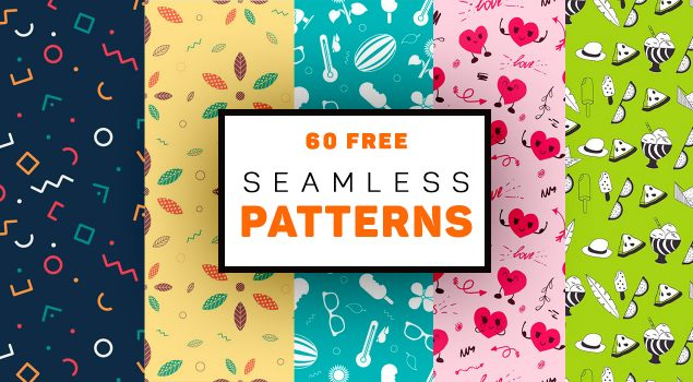 60 Free Seamless Patterns for Personal and Commercial Use