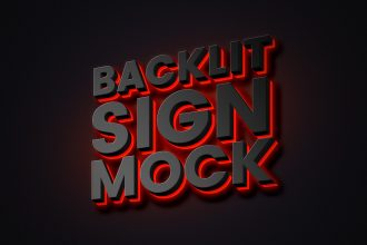 Backlit Sign Mockup