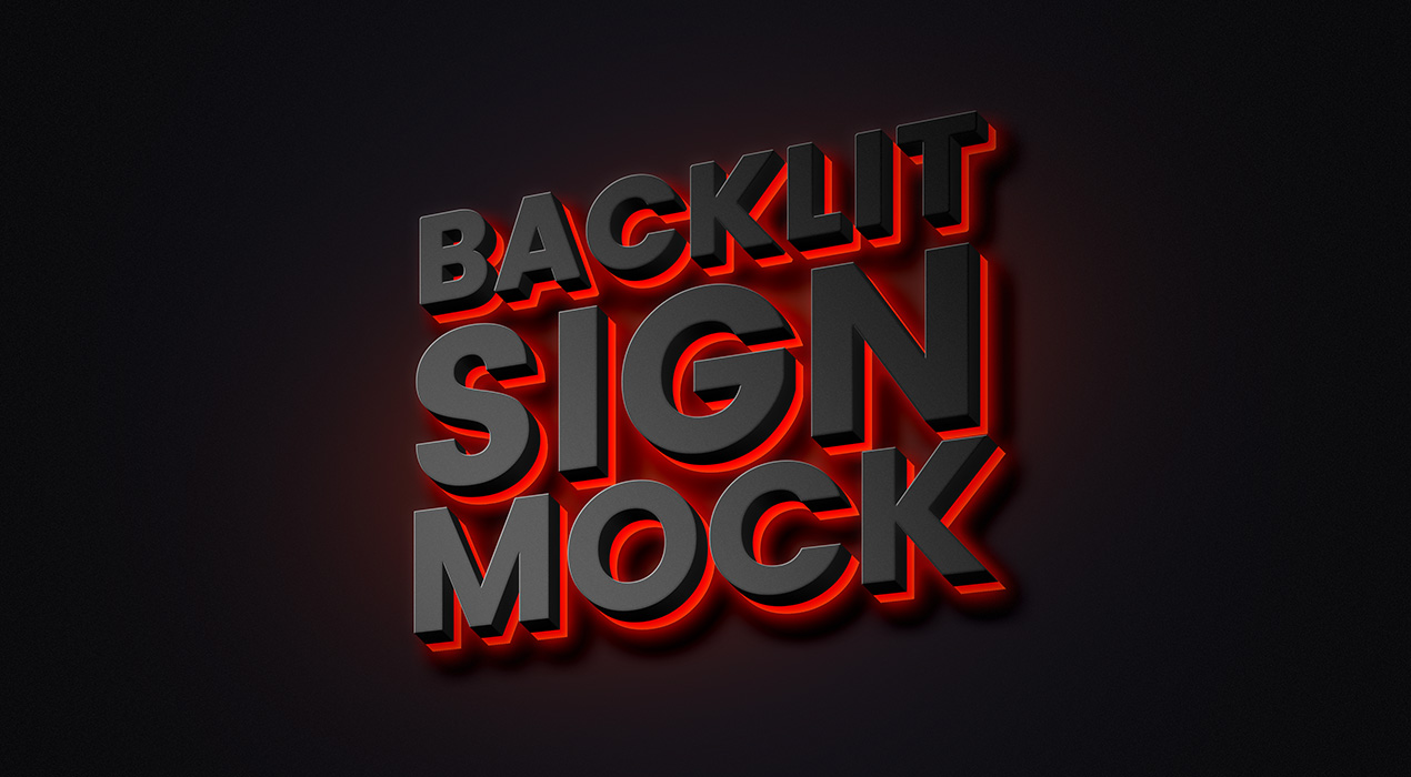 Backlit Sign Mockup
