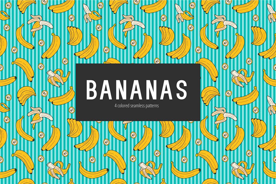 Bananas Vector Pattern