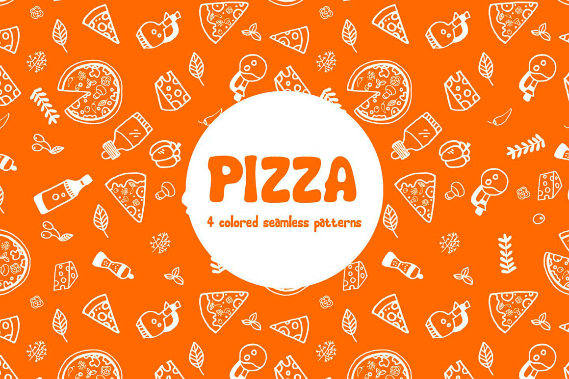 Pizza Vector Pattern