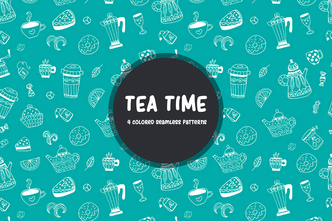 Tea Time Vector Pattern