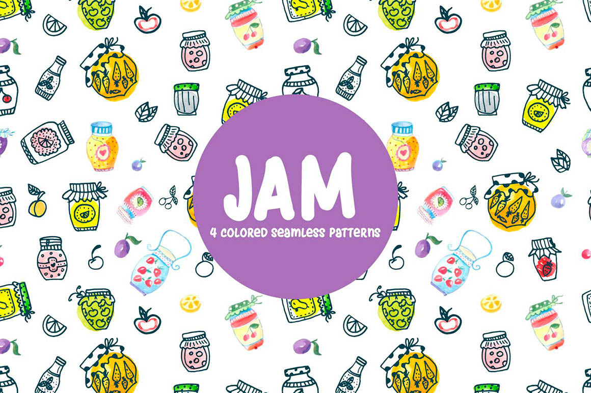 Watercolor Jam Patterns