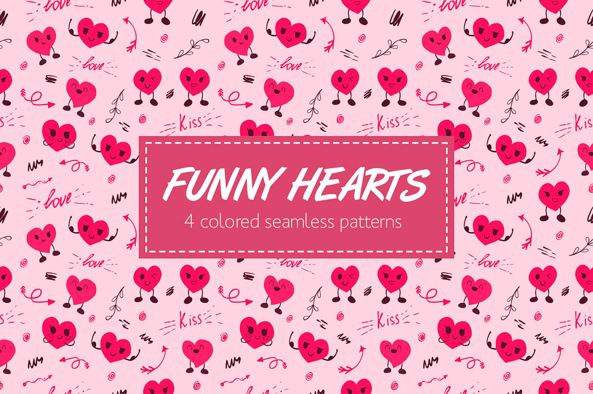 Funny Hearts Pattern