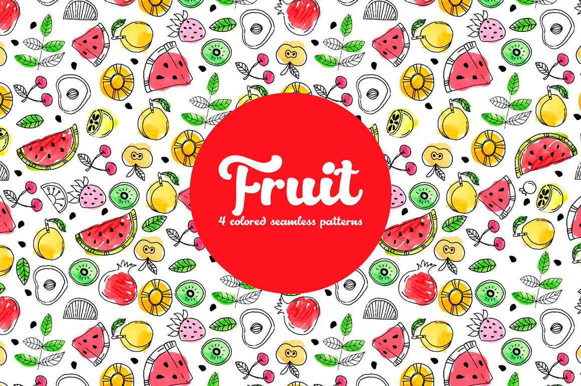 Summer Fruit Vector Pattern
