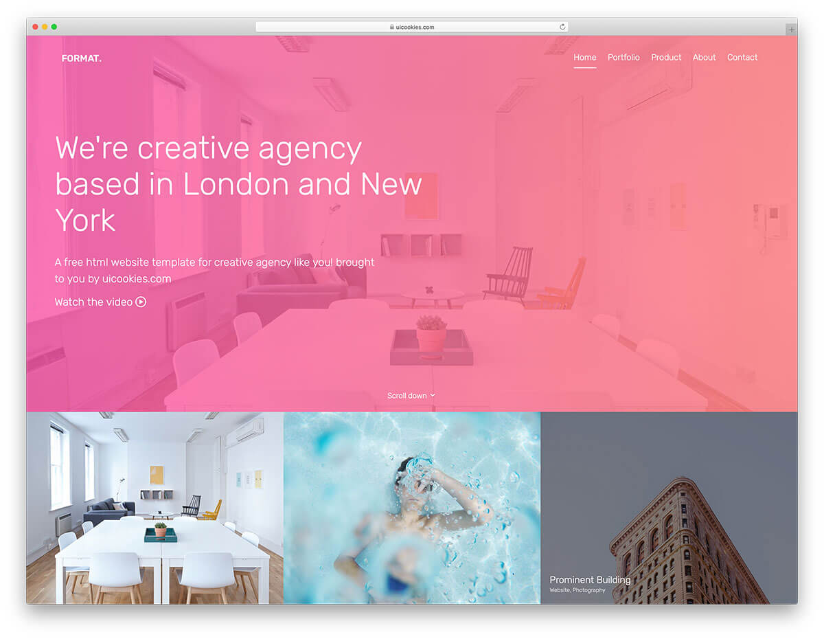 Format - Free Website Template
