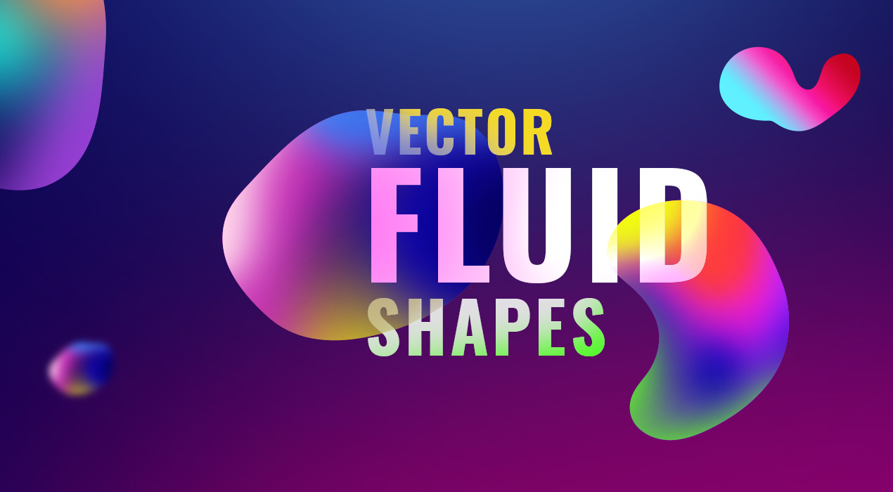 Handcrafted Vector Fluid Shapes