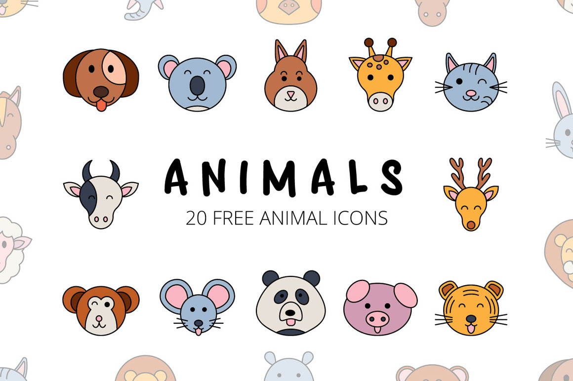 Animals Vector Free Icon Set