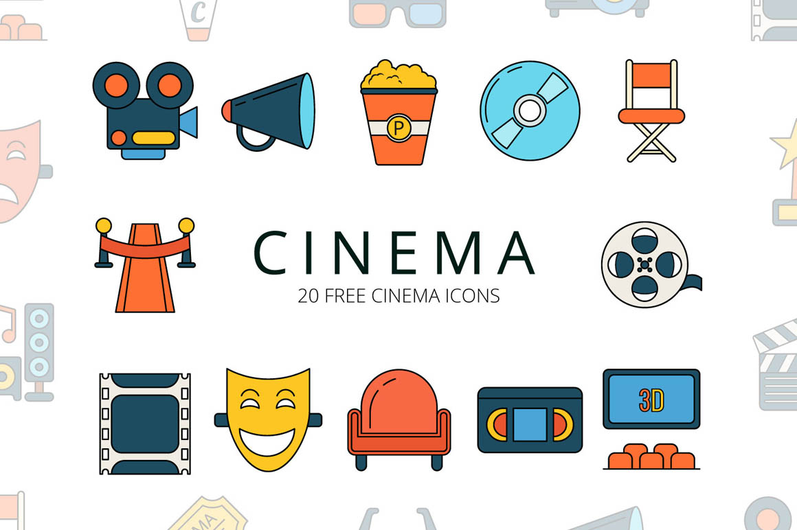 Cinema Vector Free Icon Set