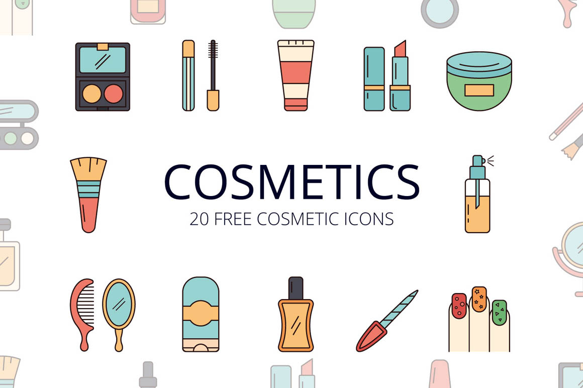 Cosmetics Vector Free Icon Set