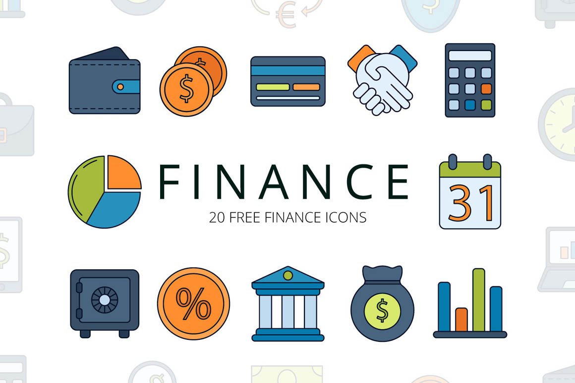 Finance Vector Free Icon Set
