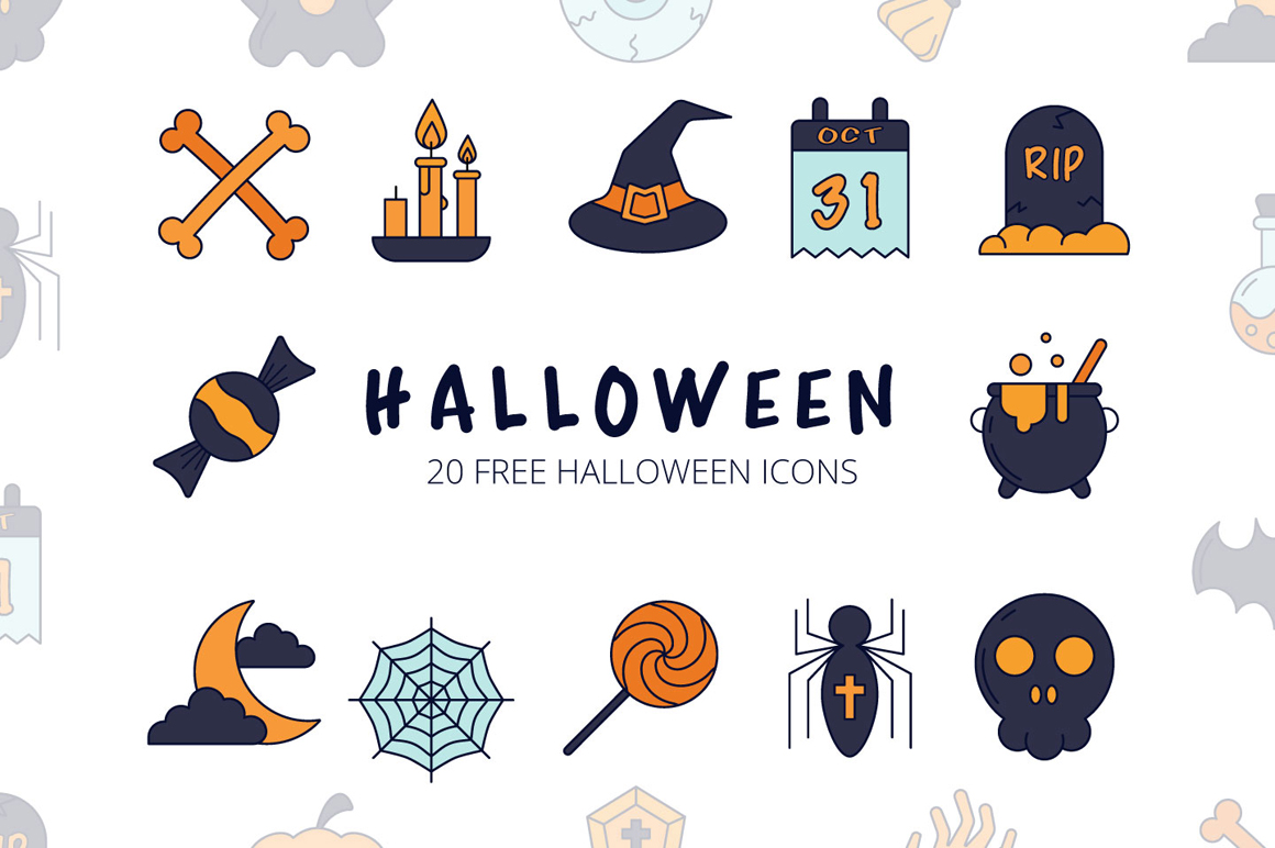 Halloween Vector Free Icon Set