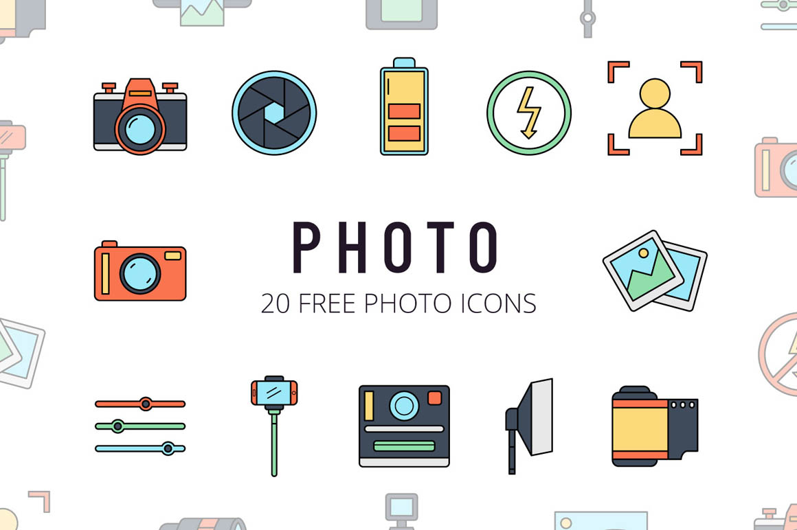 Photo Vector Free Icon Set
