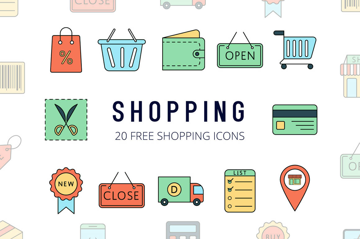 Shopping Vector Free Icon Set