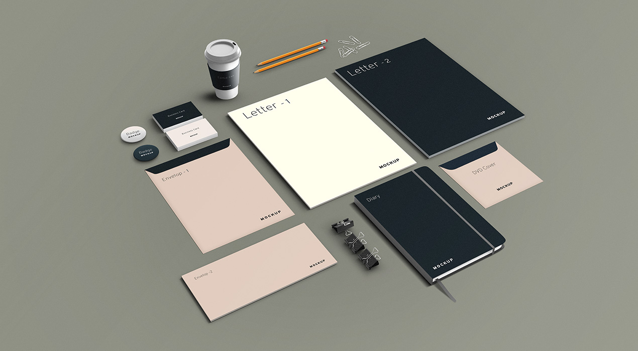 Stationery and Branding PSD Mockup