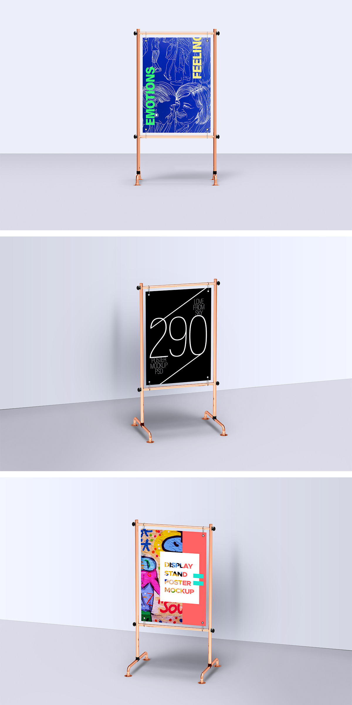 Display Stand Poster Mockup