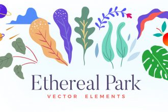 Ethereal Park: Vector Elements Pack