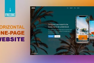 Freebie: Horizontal Scroll One Page Website