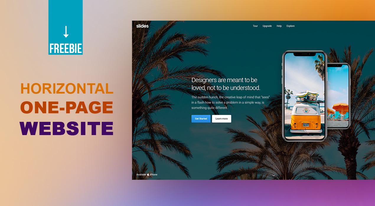 Freebie: Horizontal Scroll One Page Website