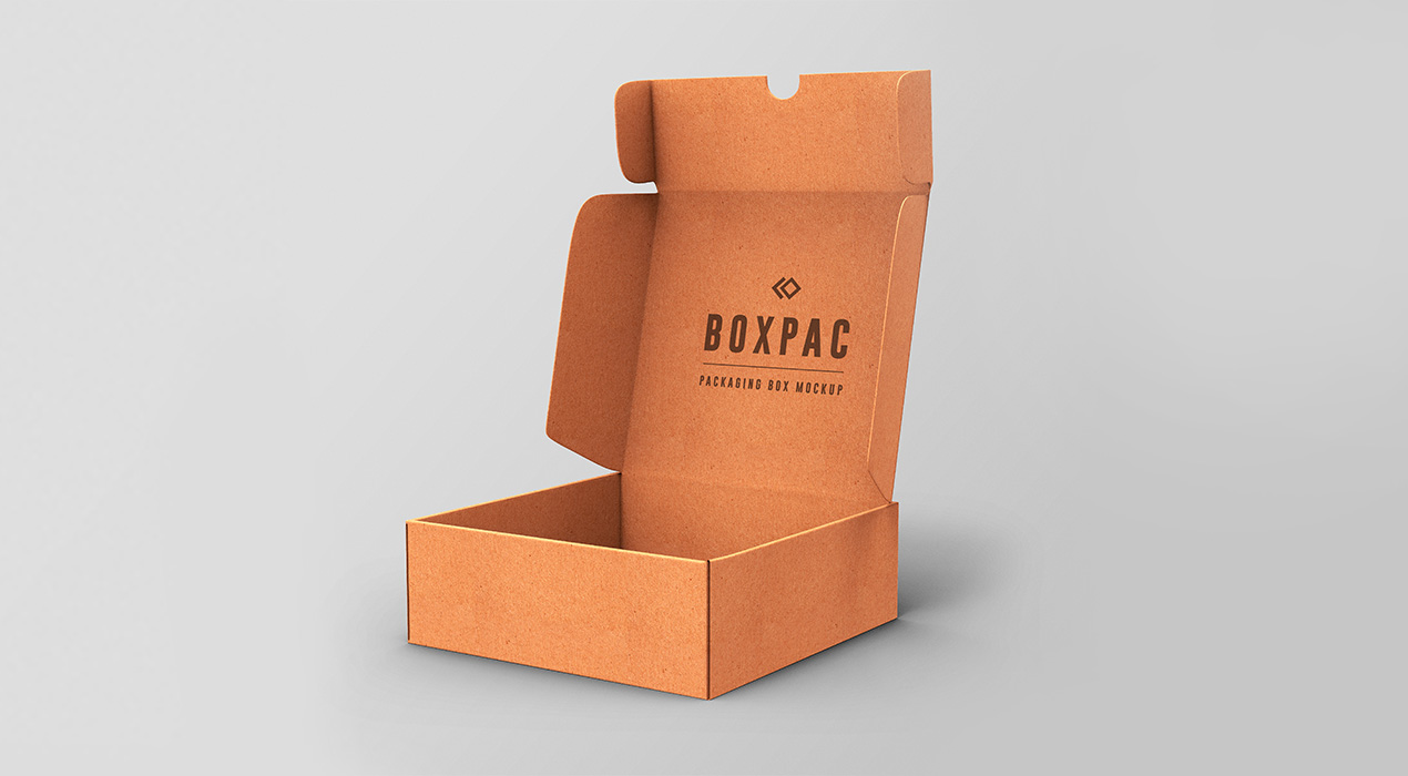Food Packaging Box PSD Mockups