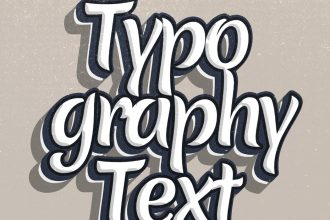 Typographic PSD Text Effect