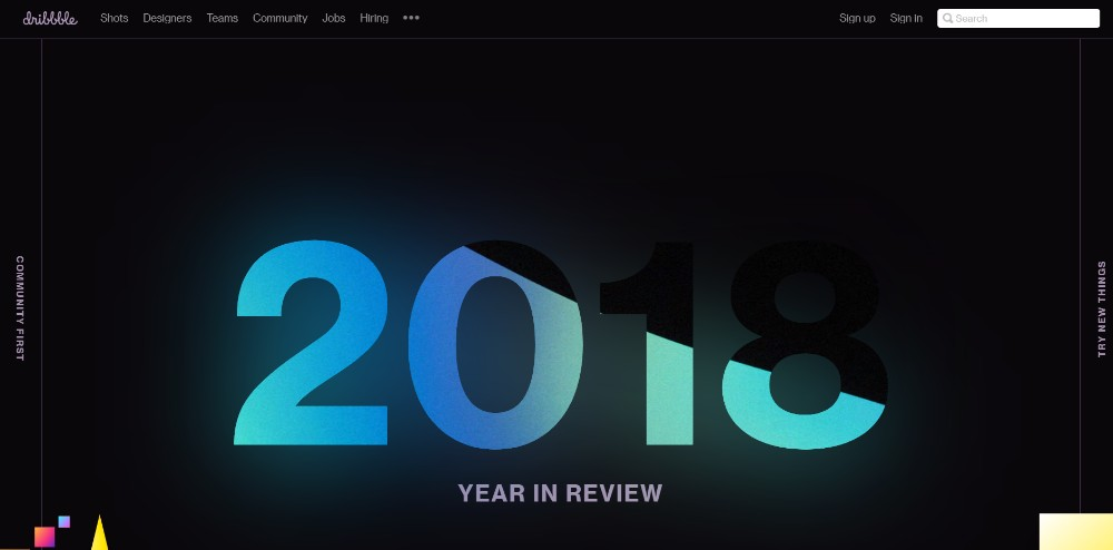 Dribbbles Review for 2018