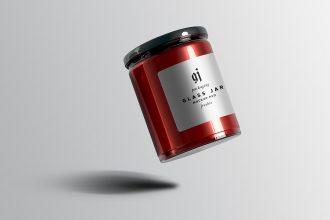 Glass Jar Mockup PSD