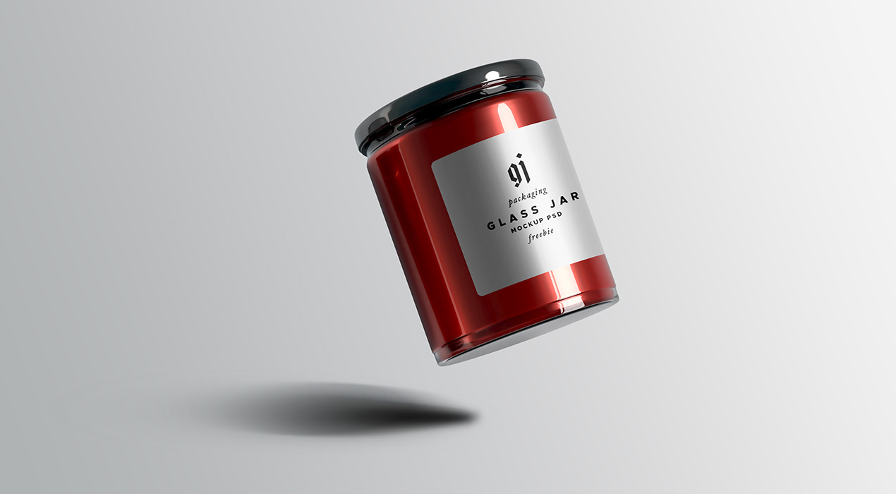 Glass Jar Mockup PSD