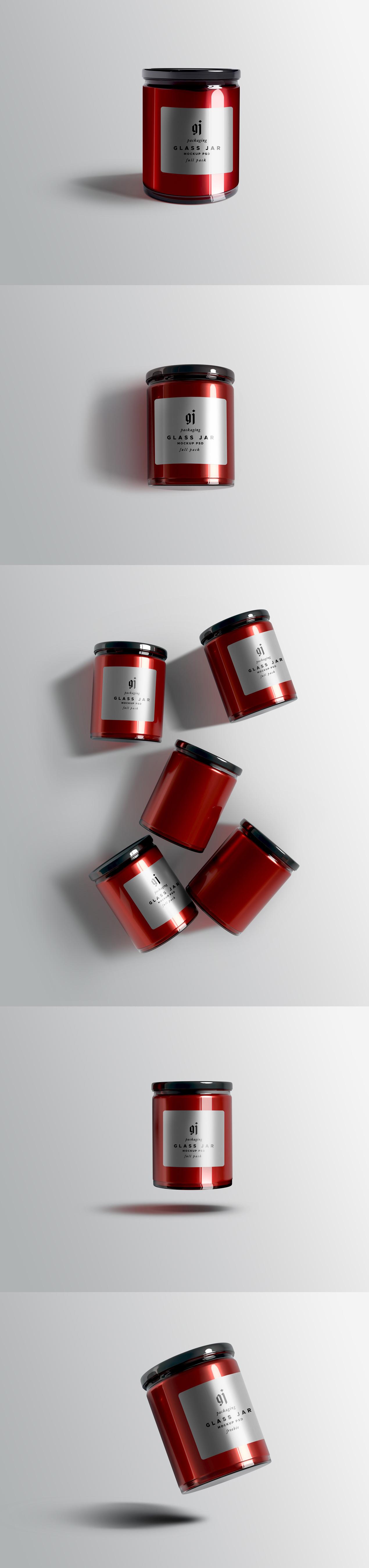 Glass Jar Mockup PSDs