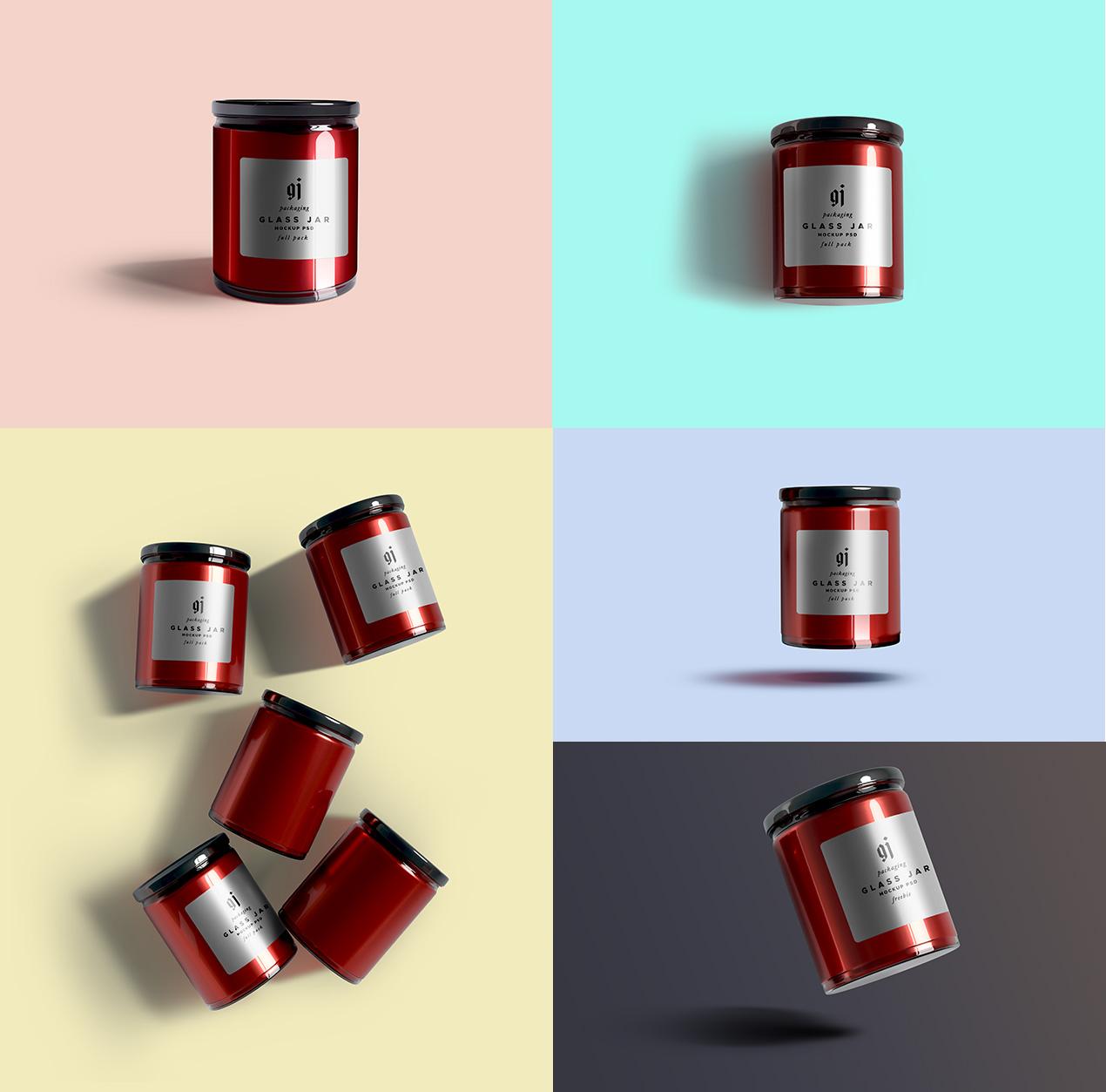 Glass Jar PSD mockups