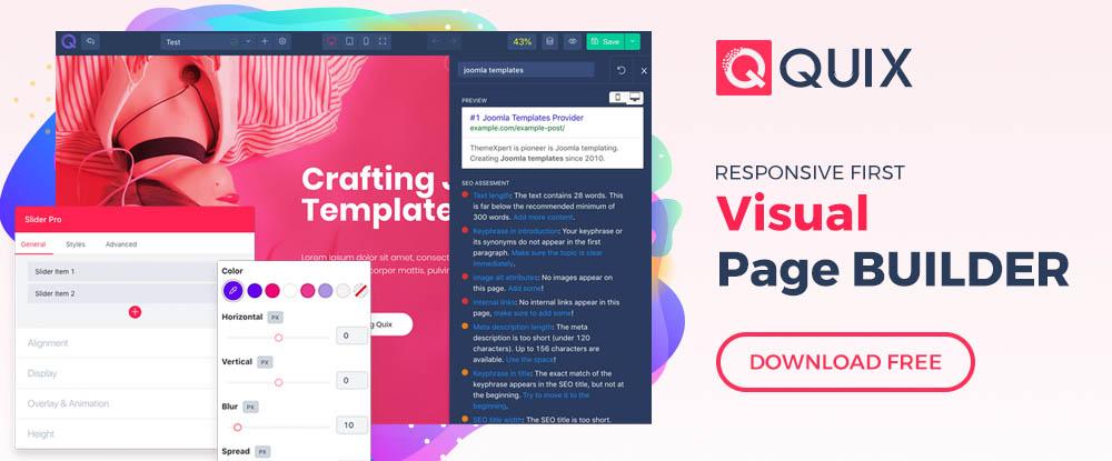 Quix Joomla Page Builder