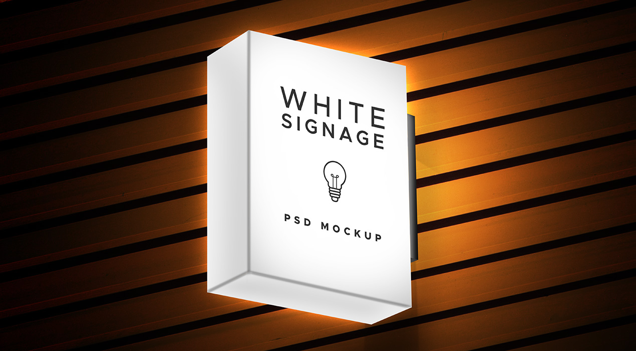 Light Box Display Signage PSD Mockup