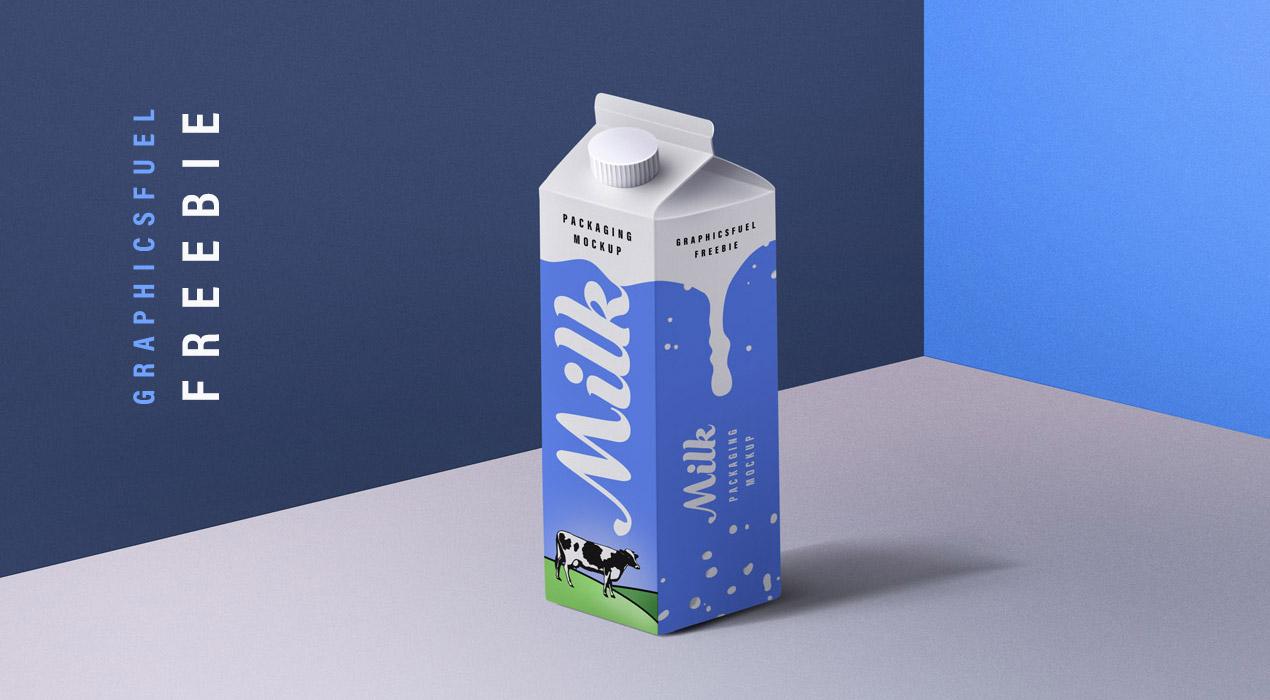 Freebie: Milk Packaging PSD Mockup