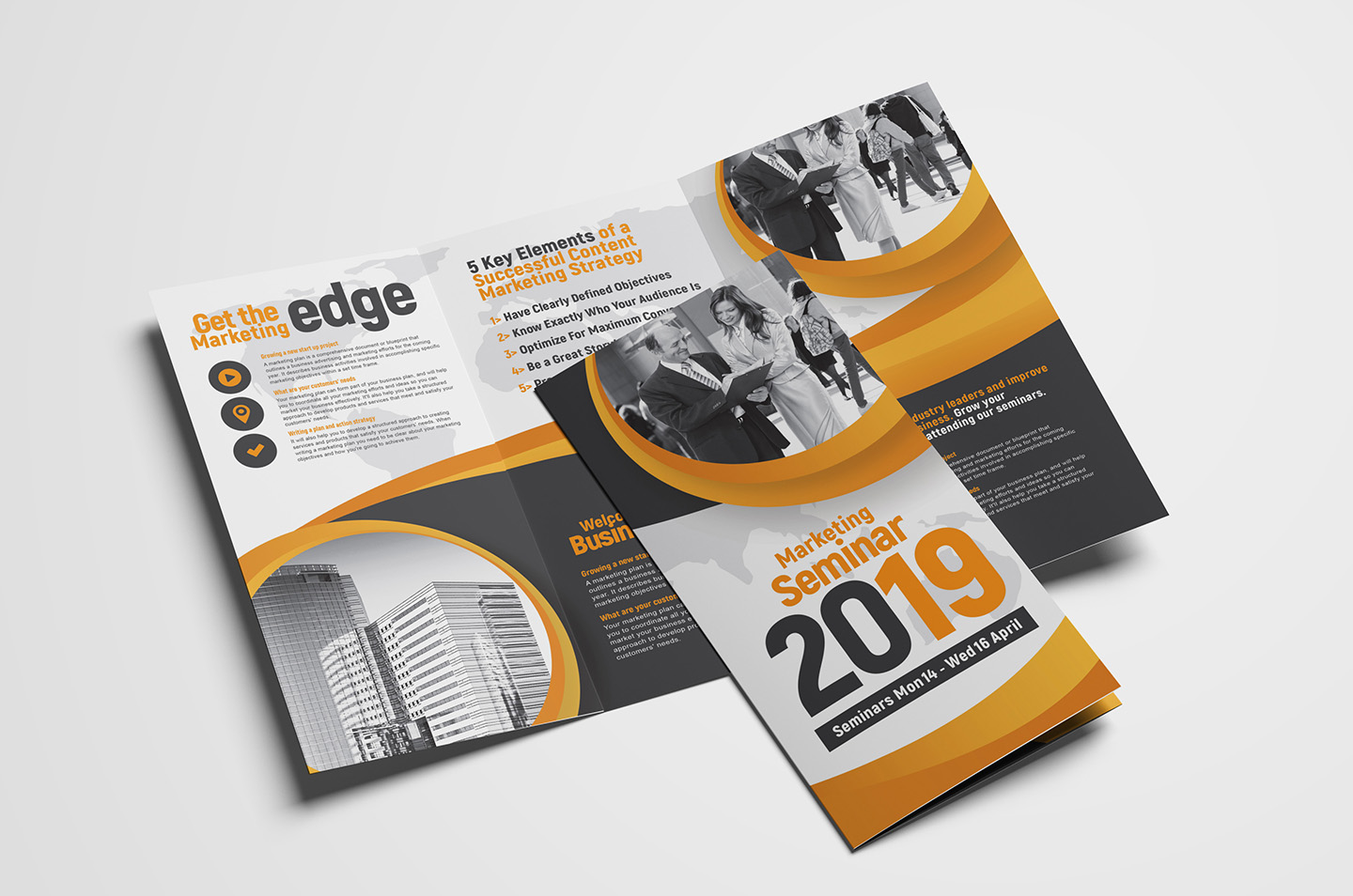 Marketing Seminar Trifold Brochure Template