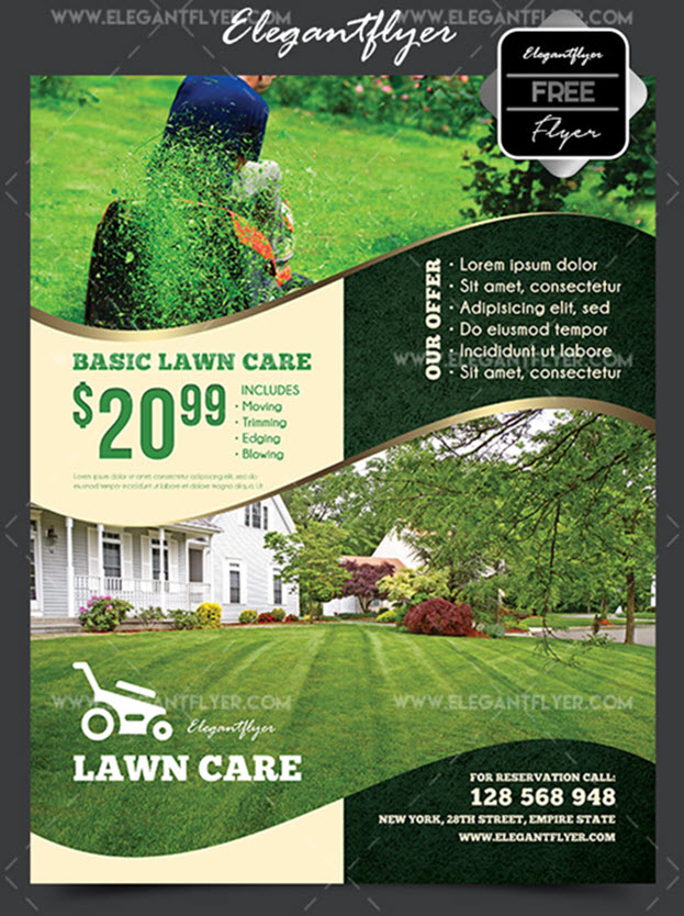 Lawn Care – Free Flyer PSD Template