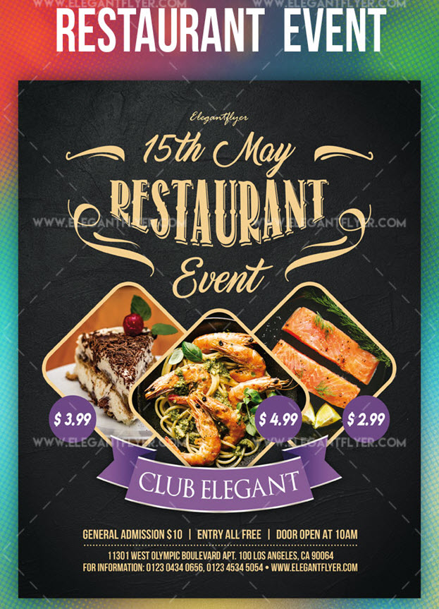 Restaurant Event – Free PSD Flyer Template