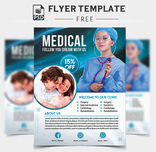 Medical Help – Free PSD Flyer Template