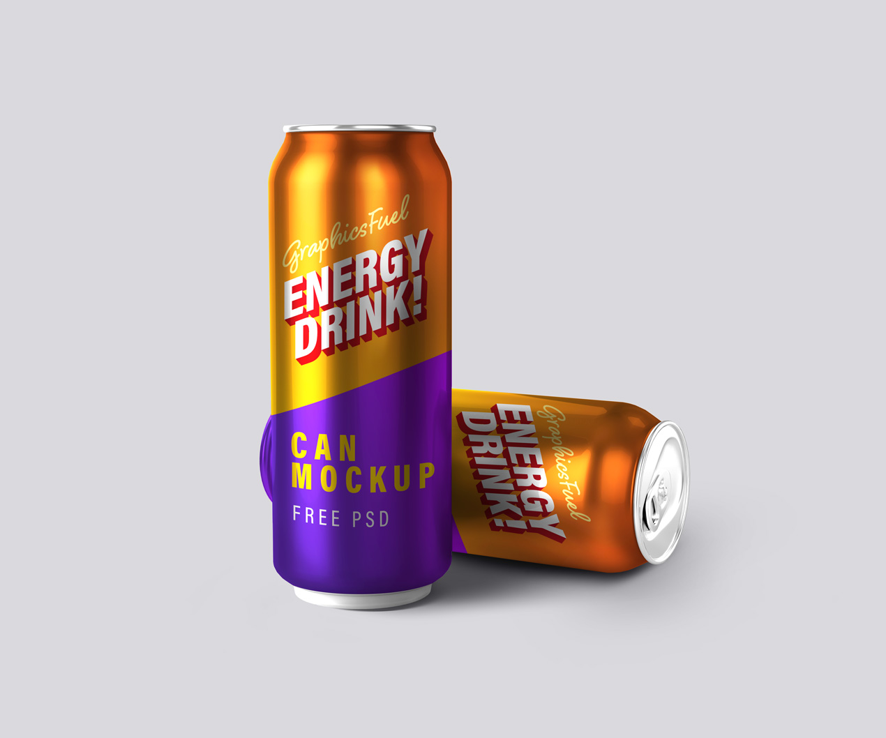 Energy Drink Can Mockups