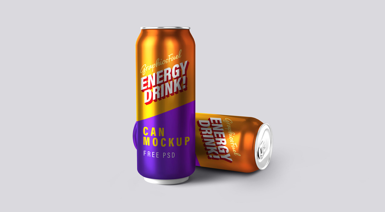 Energy Drink Can Mockups Kit