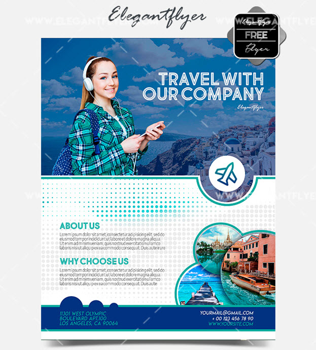 Travel Agency – Free PSD Flyer Template