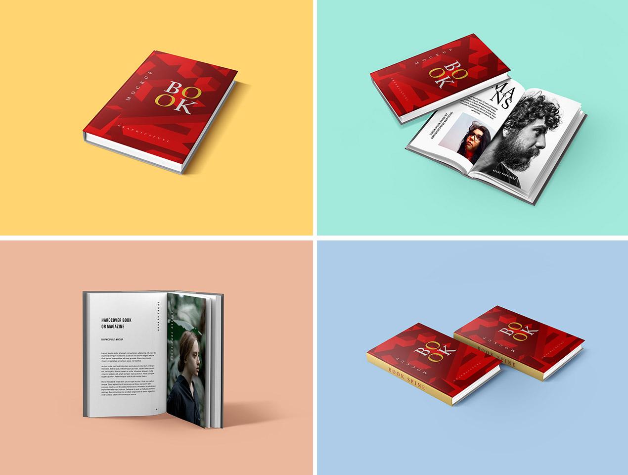 PSD Book Mockups