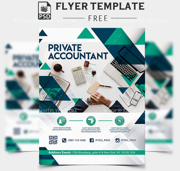 Private Accountant – Free PSD Flyer Template